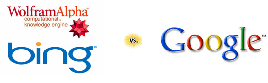 Bing & Wolfram Alpha vs Google