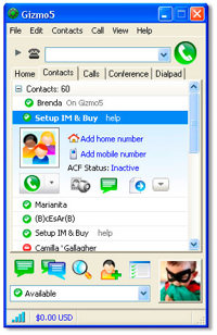 Gizmo5 Interface