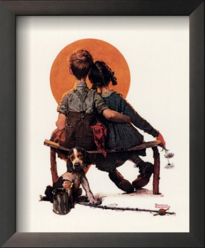 norman rockwell first love