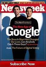 Sergey Brin en Larry Page, de oprichters van Google op cover van Newsweek