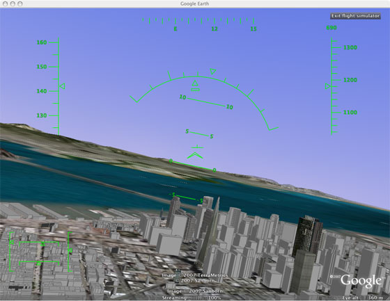 google earth flight