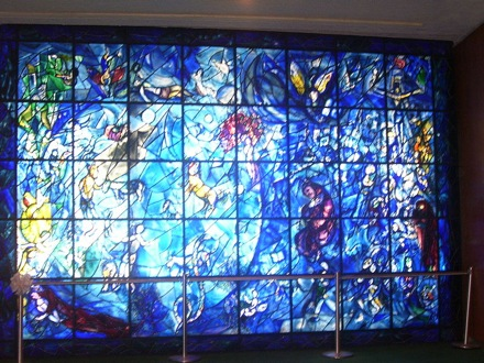 UN marc chagall stainedglass window
